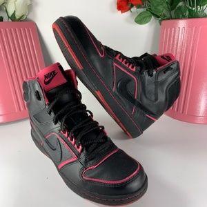 Nike Women's Leather Hi Top Black/Pink Size 8
